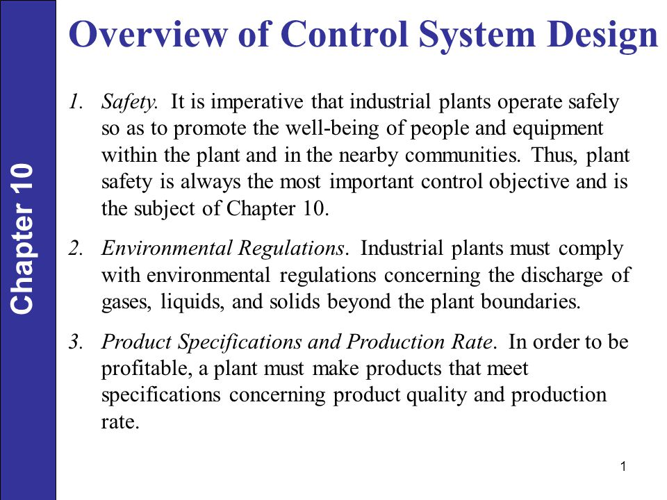 Overview of Control System Design