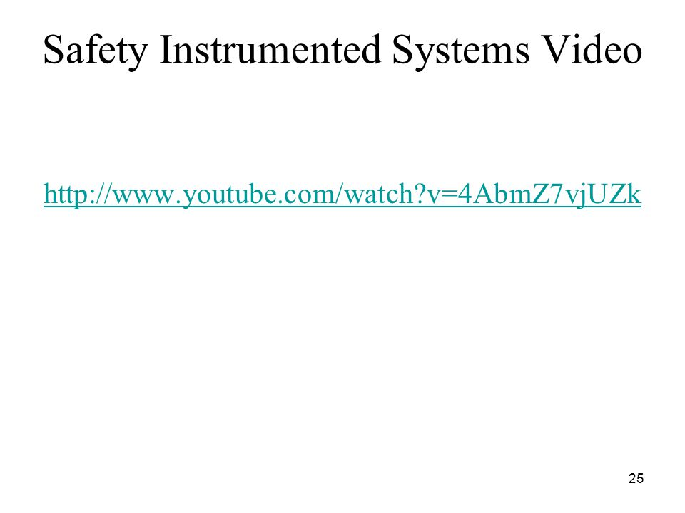 Safety Instrumented Systems Video