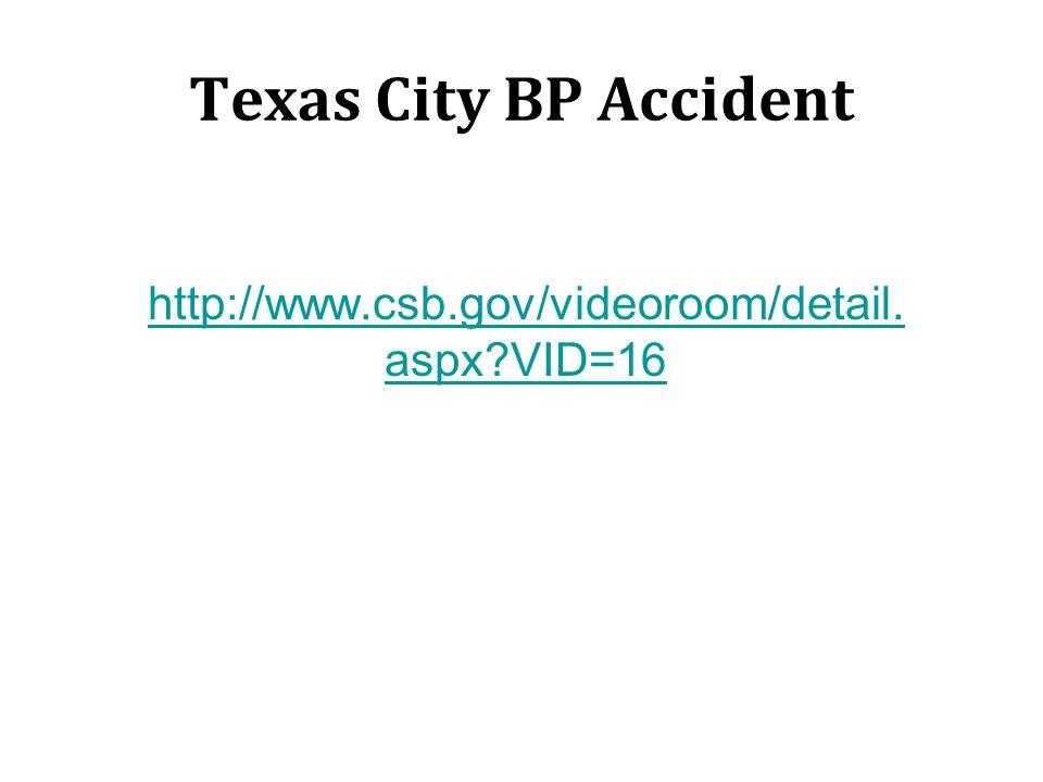 Texas City BP Accident http://www.csb.gov/videoroom/detail.aspx VID=16