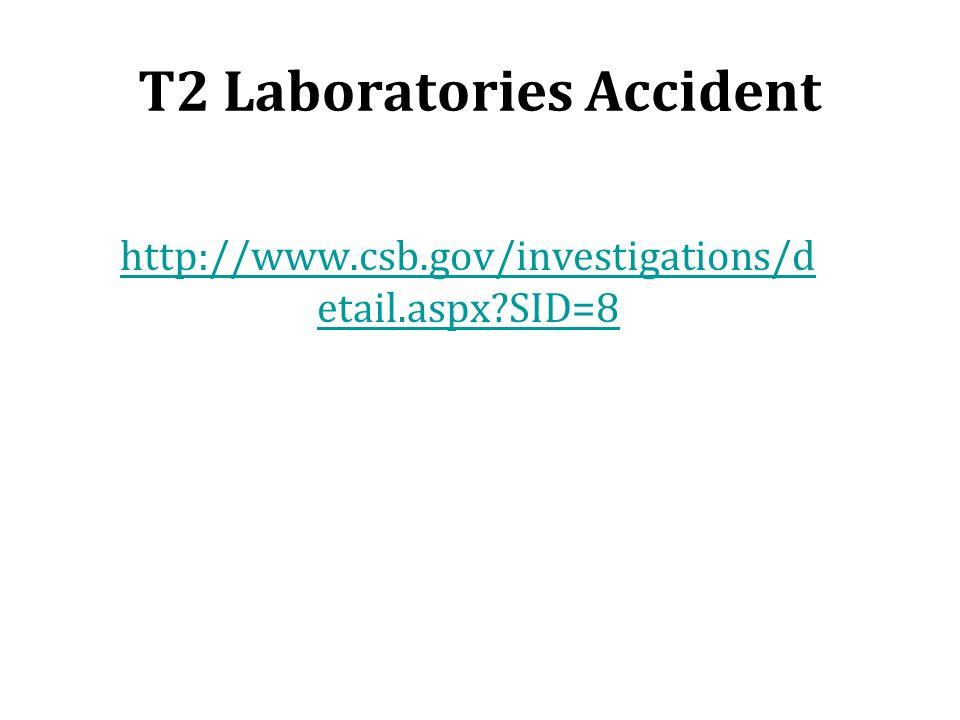 T2 Laboratories Accident