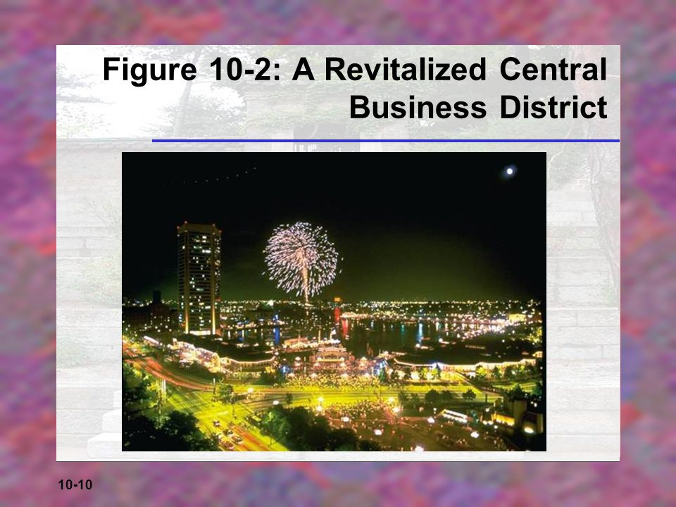 Figure 10-2: A Revitalized Central Business District