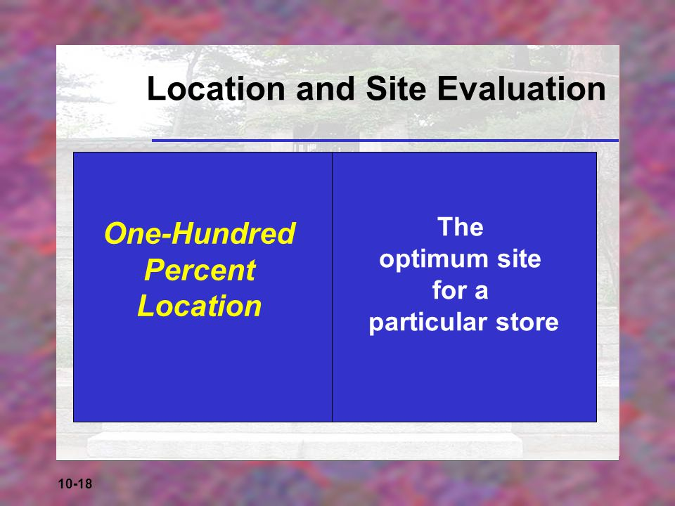Location and Site Evaluation