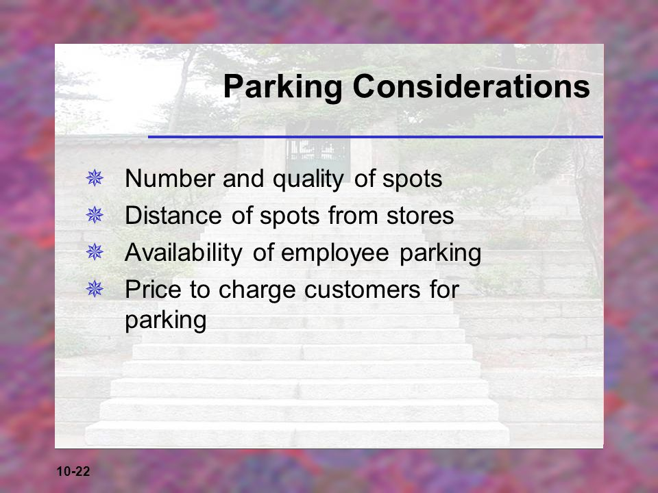 Parking Considerations