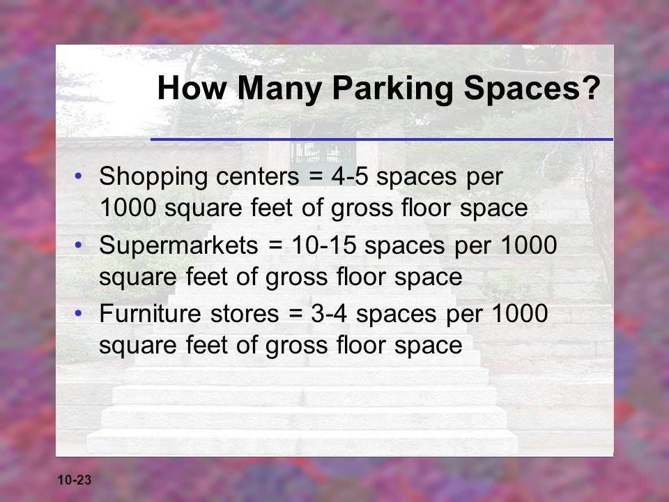 How Many Parking Spaces