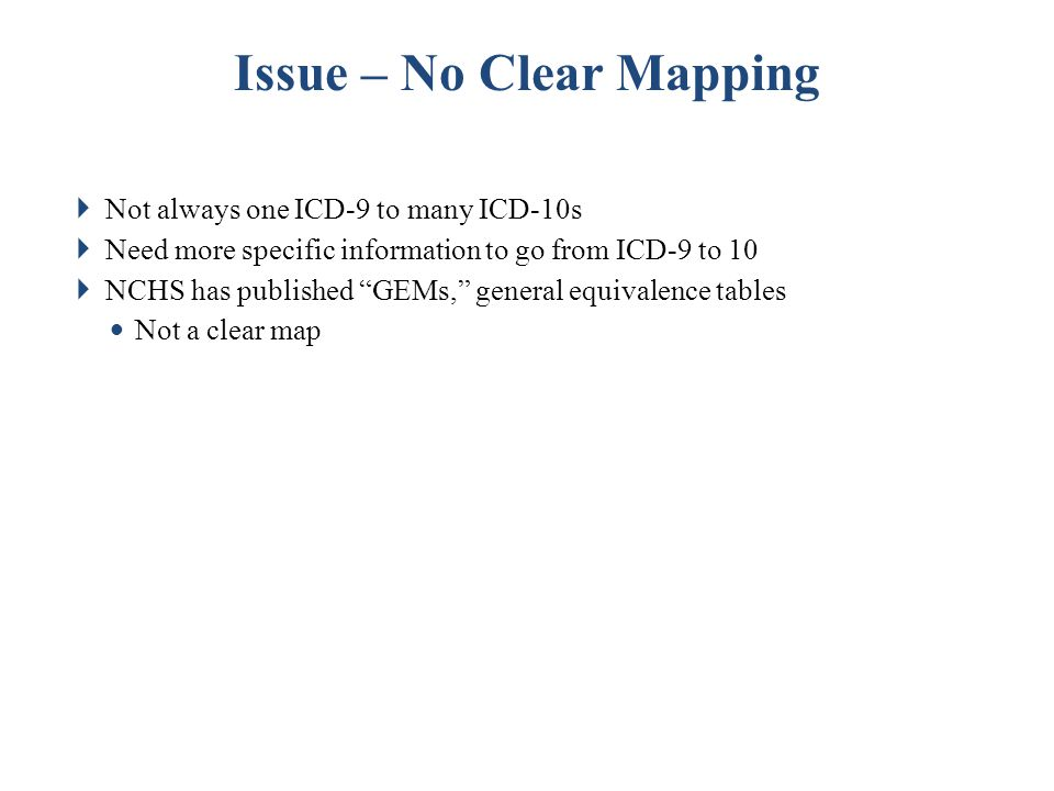 Issue – No Clear Mapping