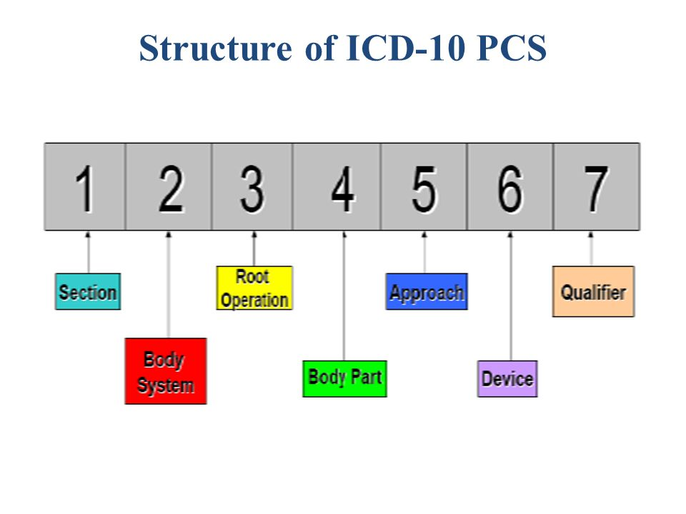 Structure of ICD-10 PCS