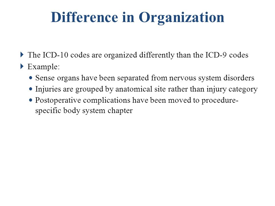 Difference in Organization
