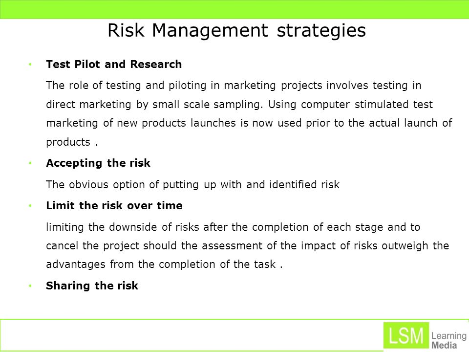 Risk management strategies using options