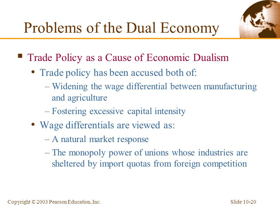 Problems of the Dual Economy