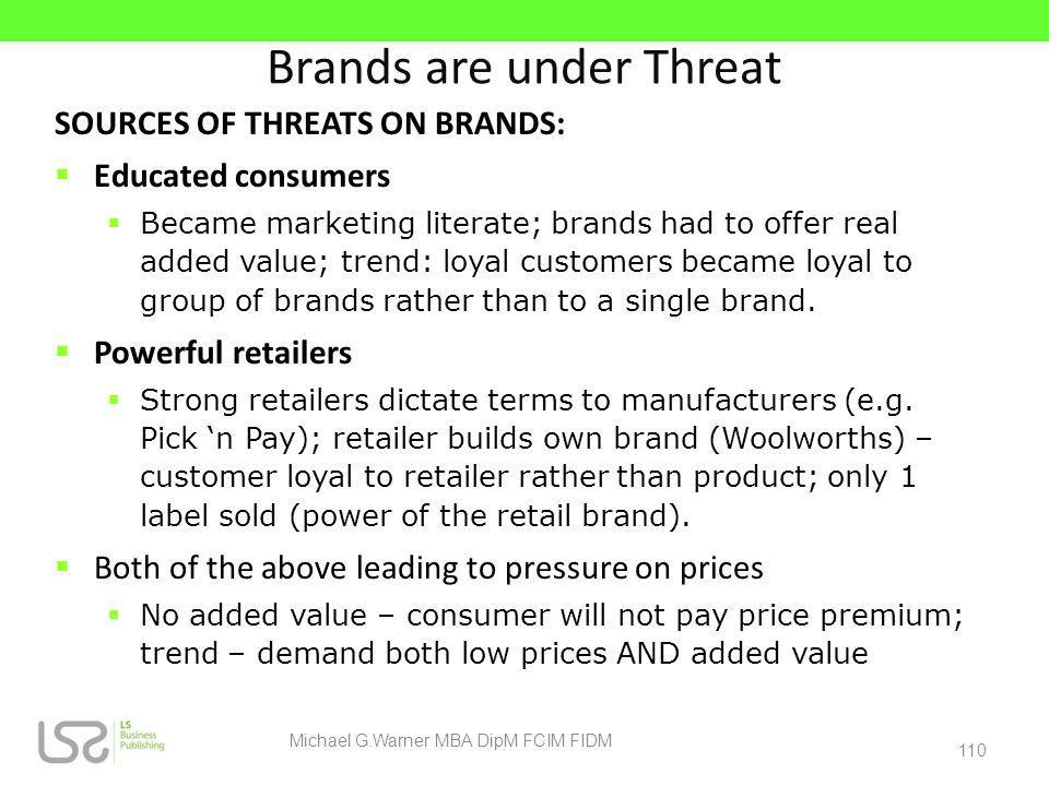 Brands are under Threat