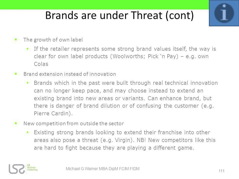 Brands are under Threat (cont)