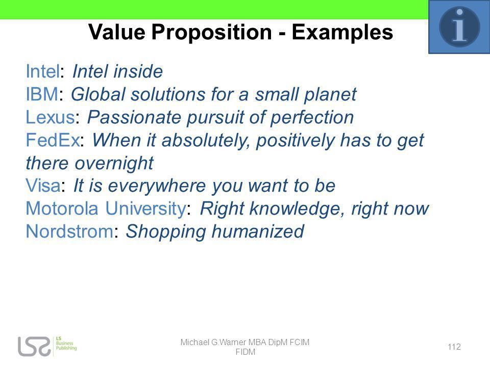 Value Proposition - Examples