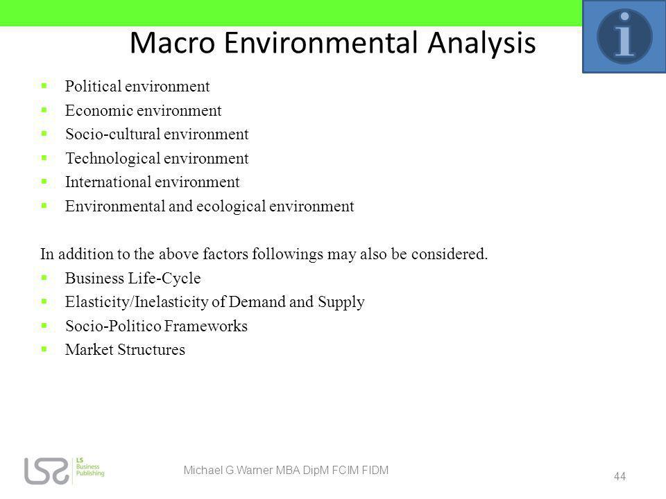 Macro Environmental Analysis