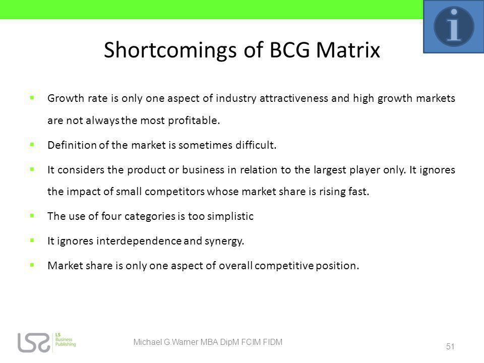 Shortcomings of BCG Matrix