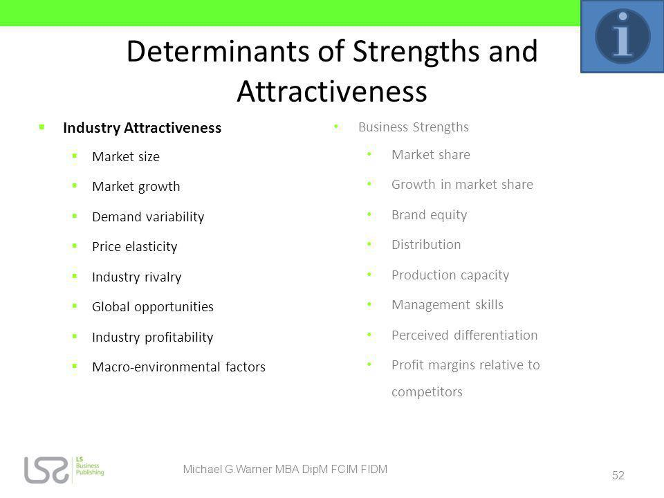 Determinants of Strengths and Attractiveness