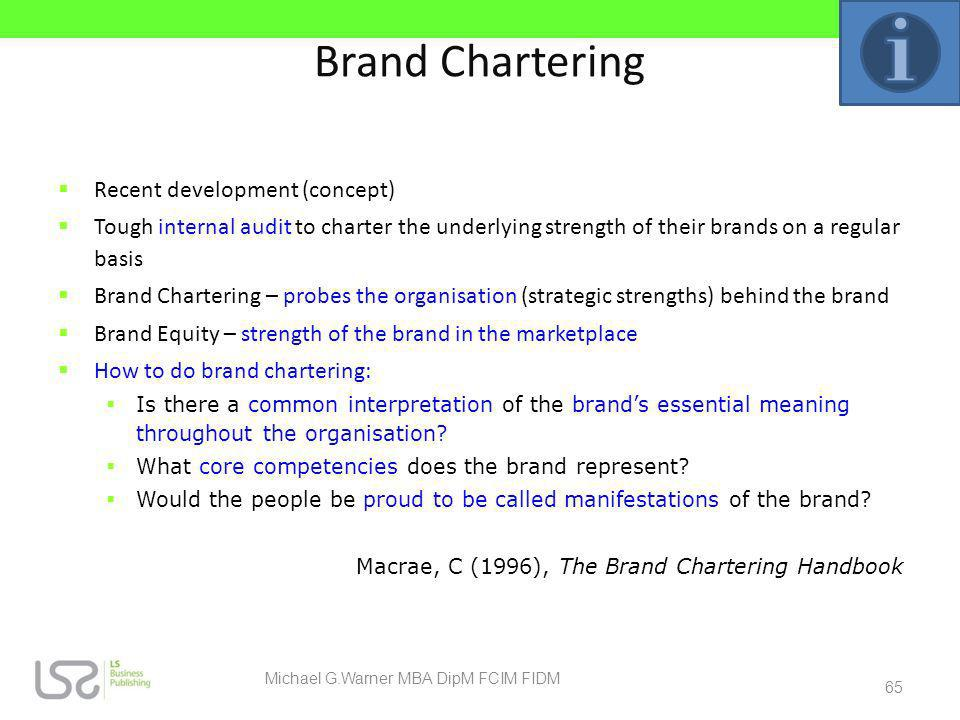 Michael G.Warner MBA DipM FCIM FIDM