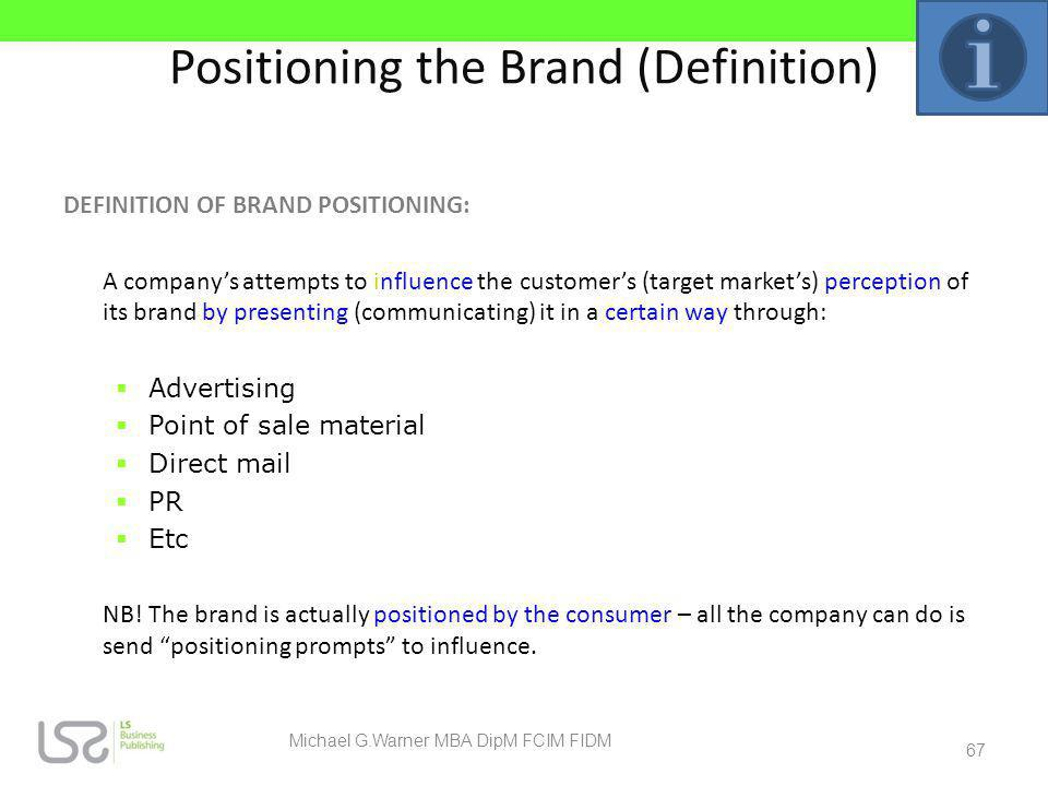 Positioning the Brand (Definition)