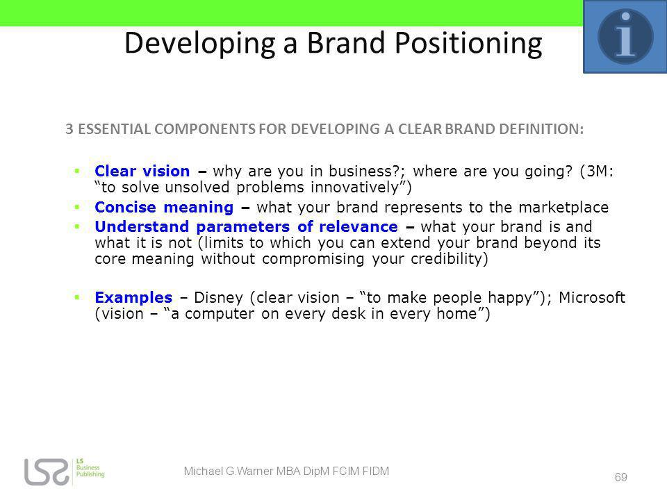 Developing a Brand Positioning