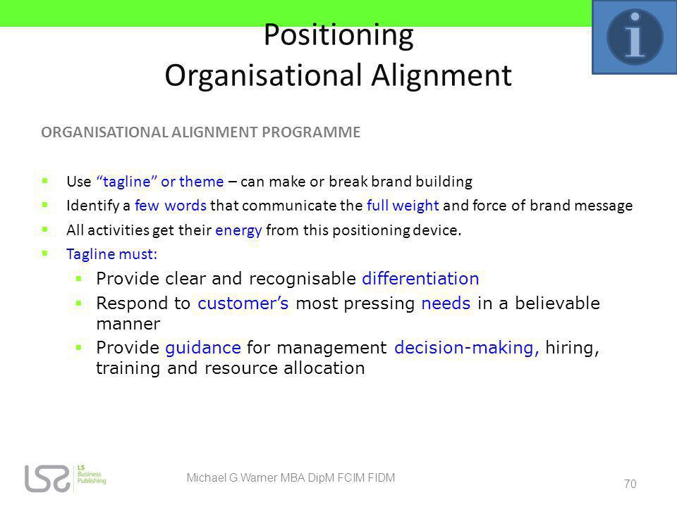 Positioning Organisational Alignment