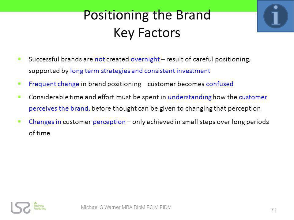 Positioning the Brand Key Factors