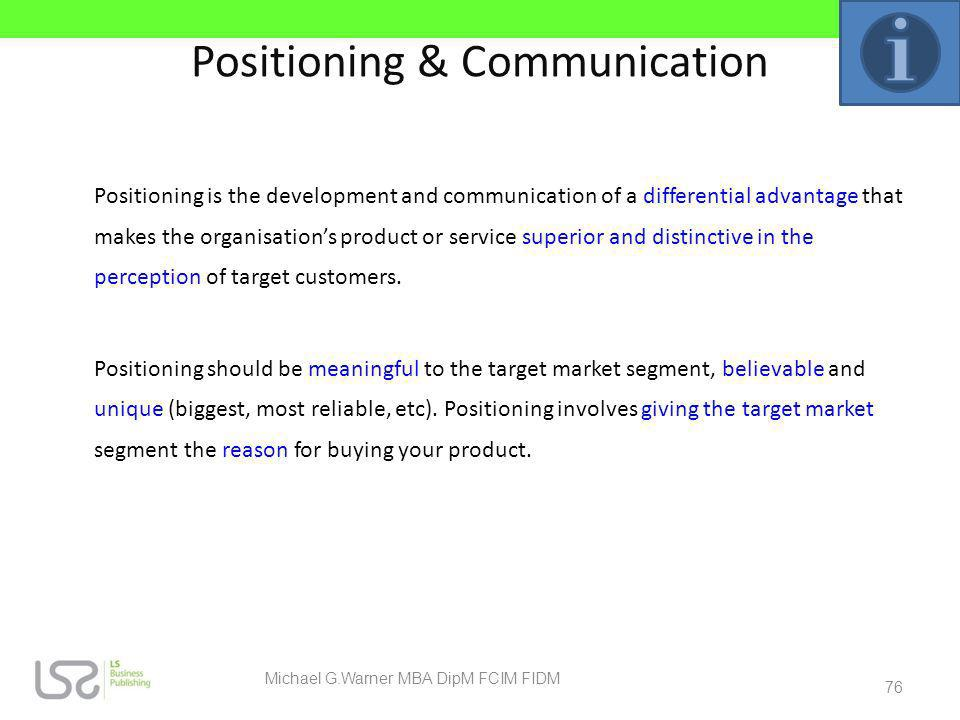 Positioning & Communication