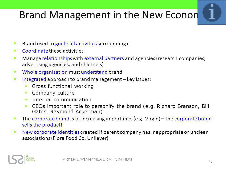 Brand Management in the New Economy