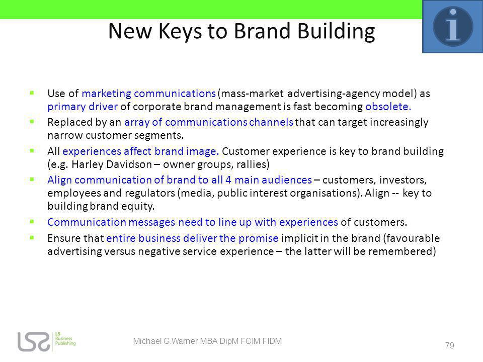 New Keys to Brand Building