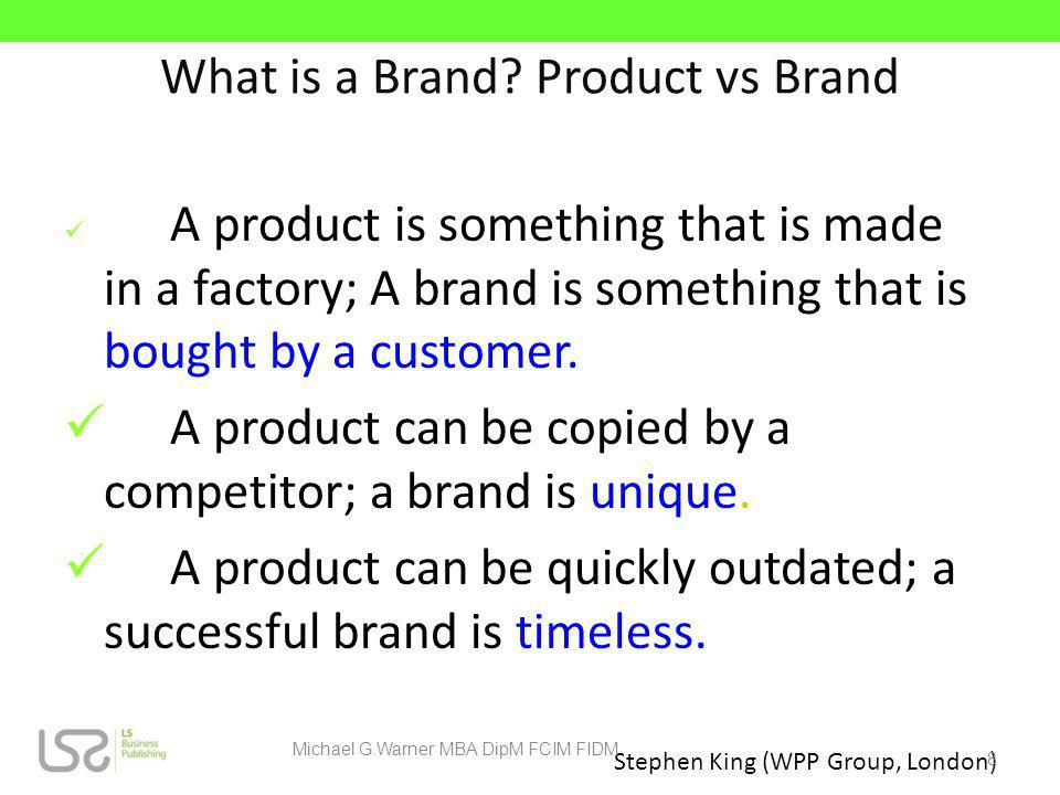 What is a Brand Product vs Brand