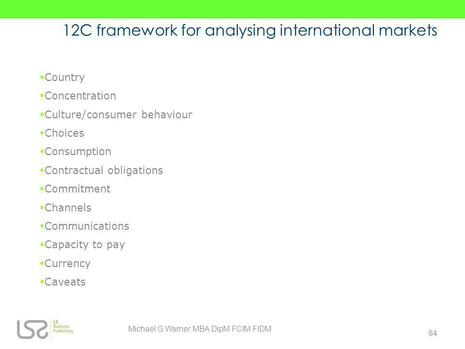 12C framework for analysing international markets