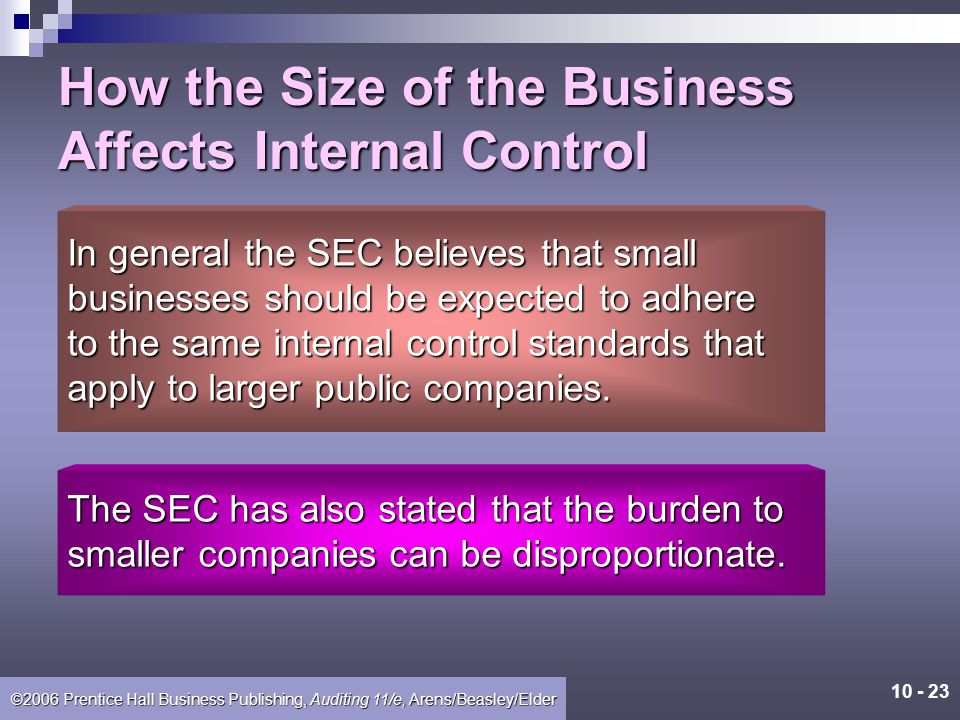 How the Size of the Business Affects Internal Control
