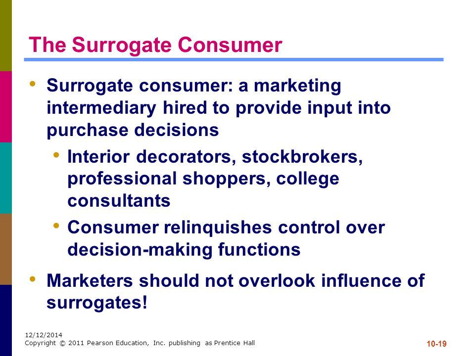 The Surrogate Consumer