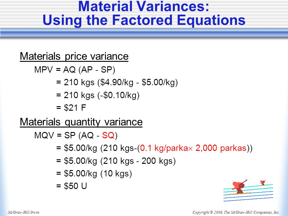 Material Variances: Using the Factored Equations