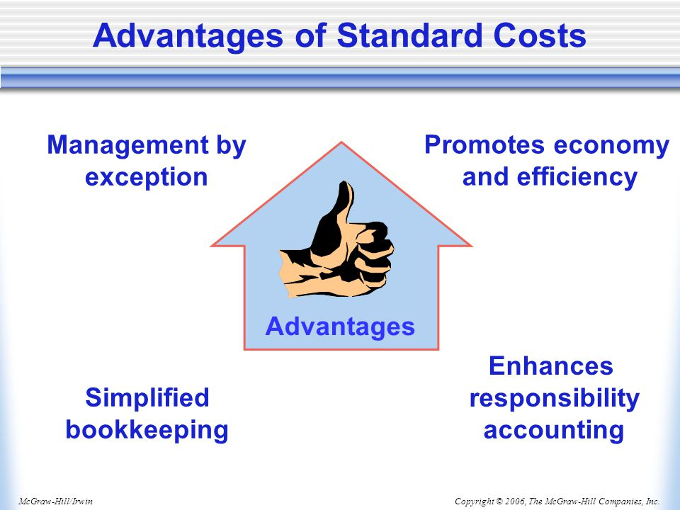 Advantages of Standard Costs