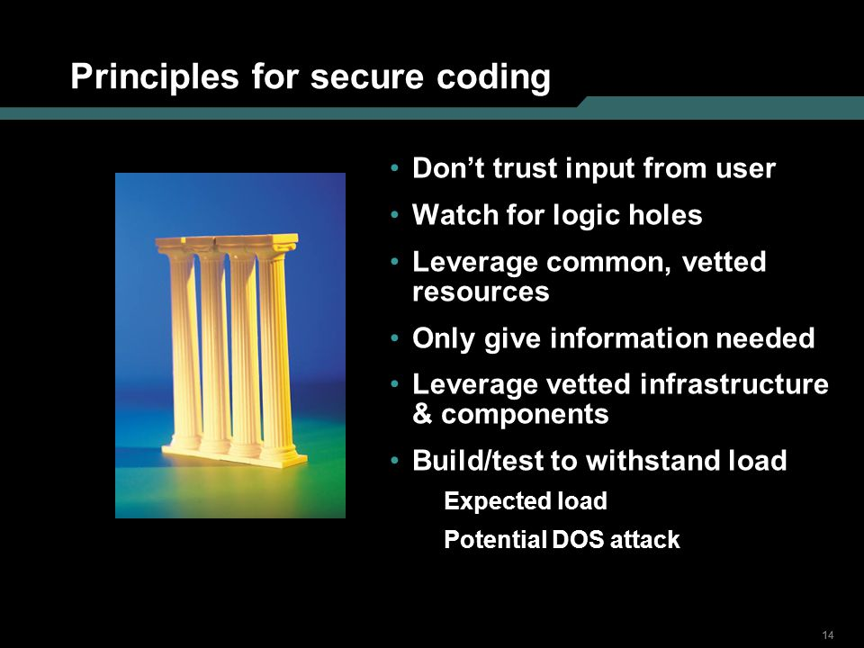 Principles for secure coding