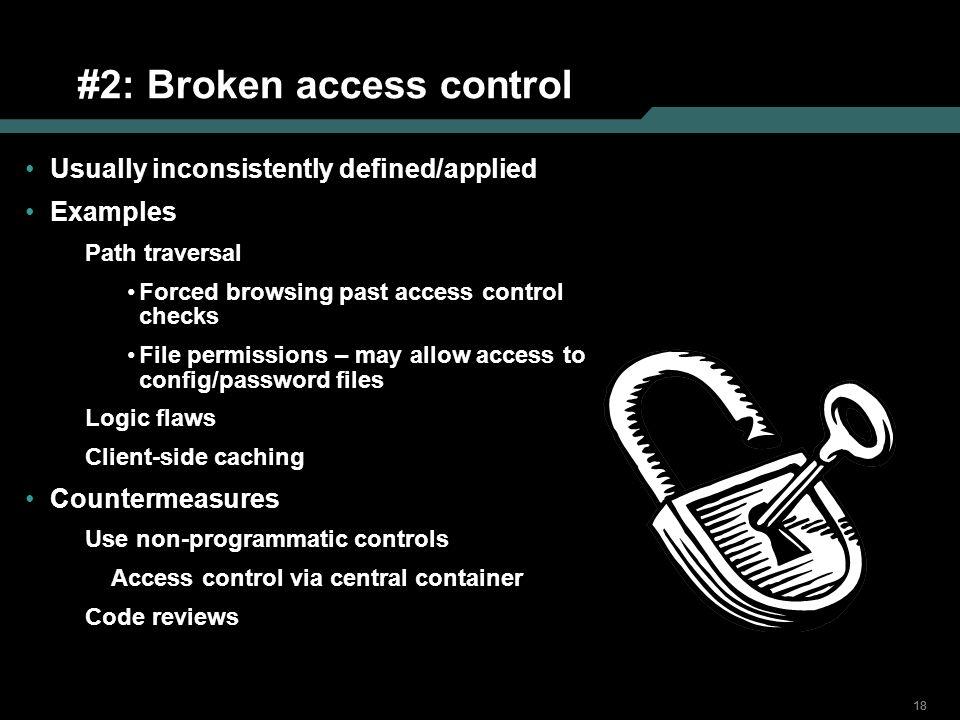 #2: Broken access control