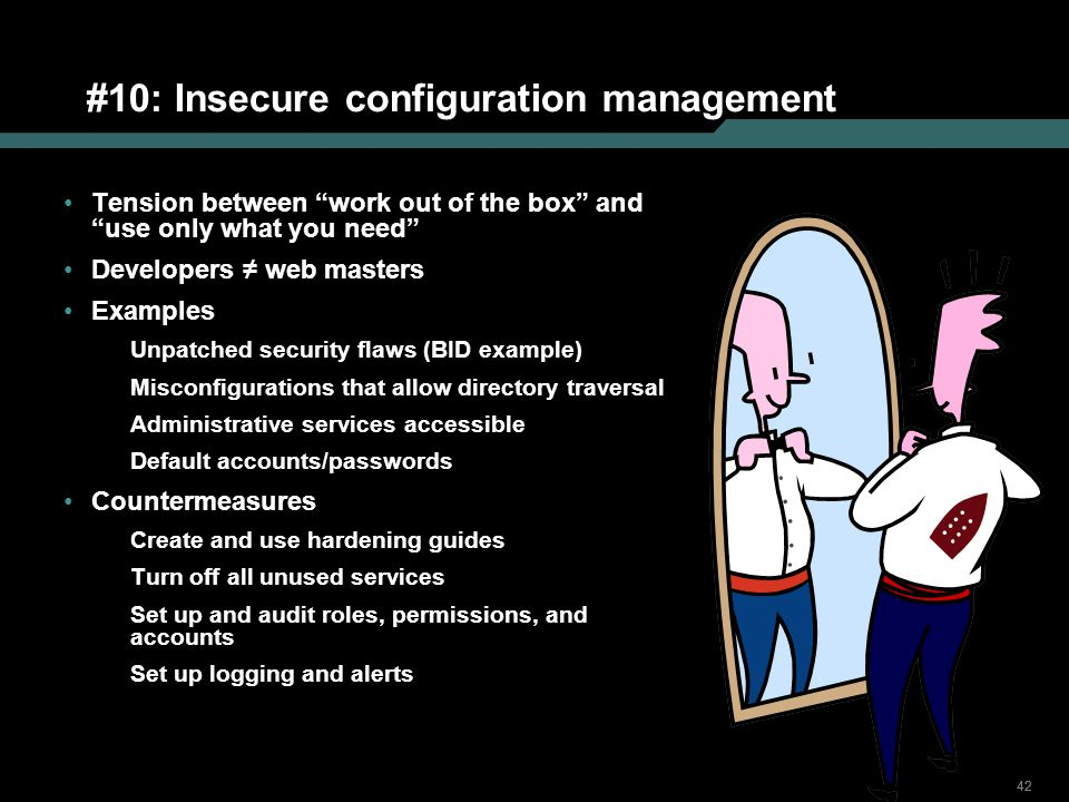 #10: Insecure configuration management