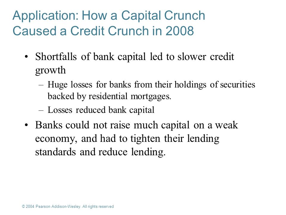 Application: How a Capital Crunch Caused a Credit Crunch in 2008