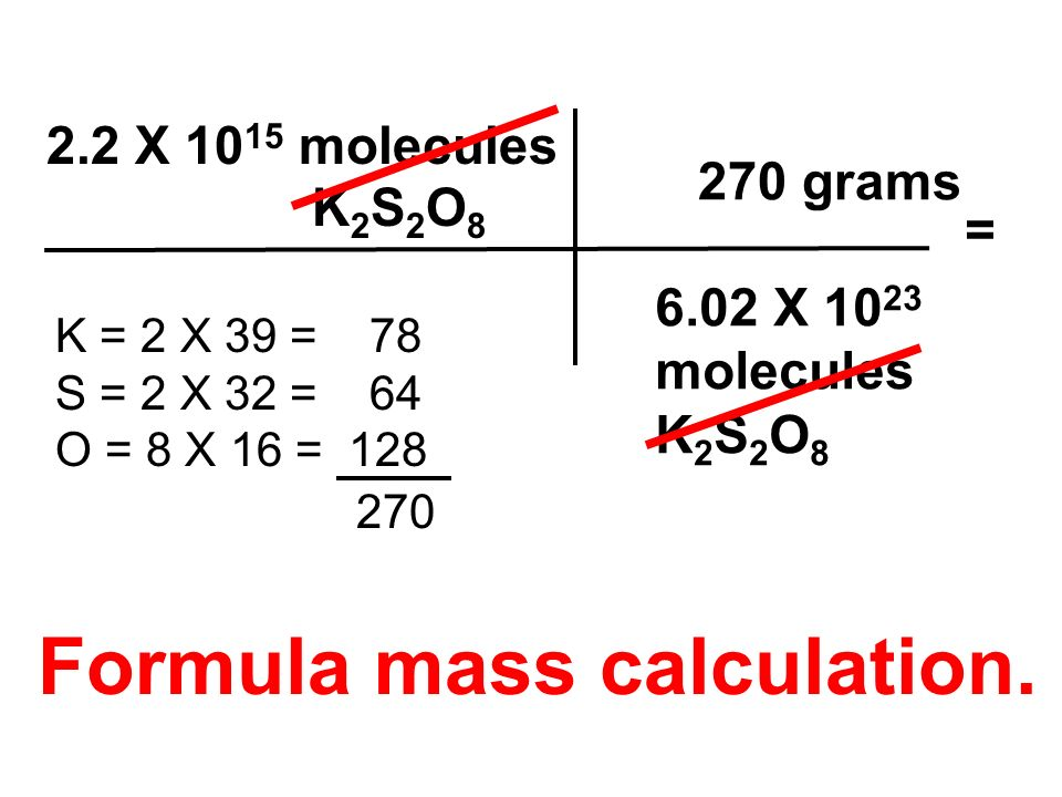 Formula mass calculation.