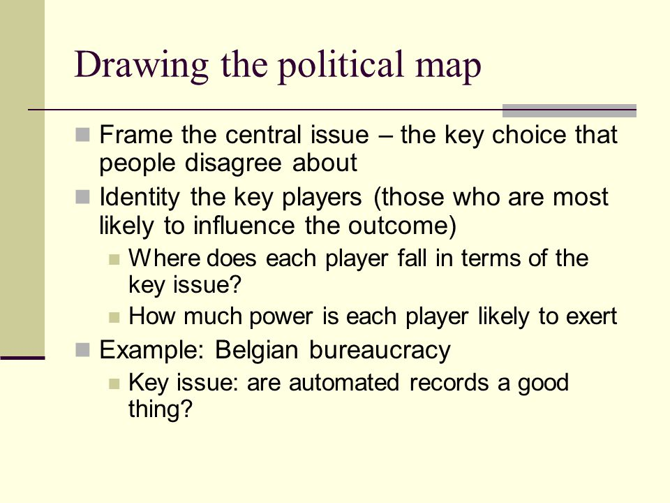 Drawing the political map