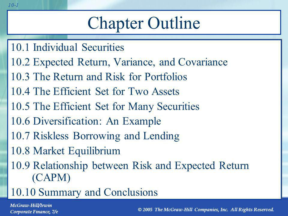 10.1 Individual Securities