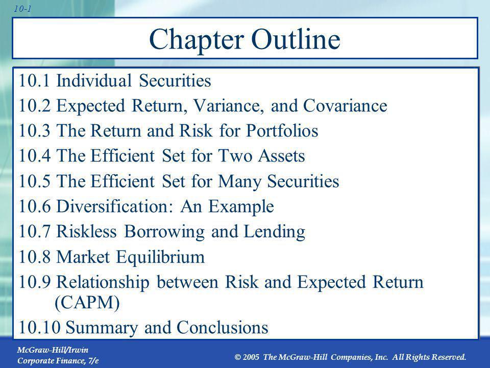 10.1 Individual Securities