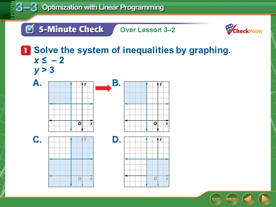 Solve the system of inequalities by graphing x 2 y 3 ppt – Solving Systems of Inequalities by Graphing Worksheet