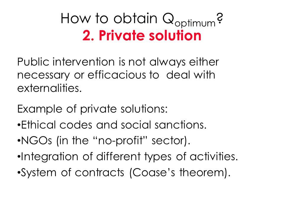 How to obtain Qoptimum 2. Private solution