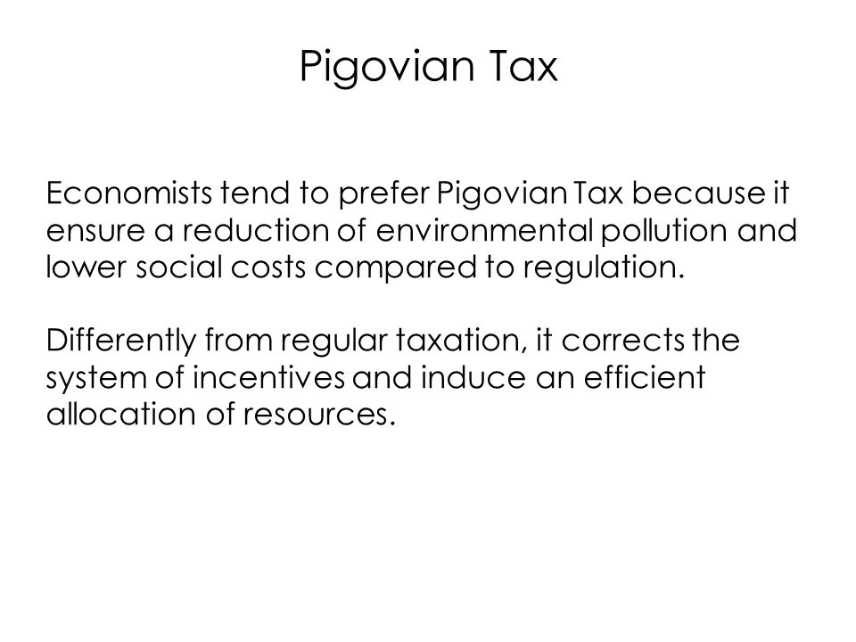 Pigovian Tax