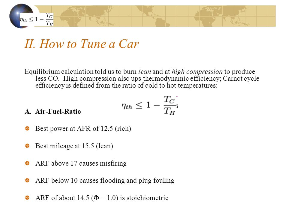 II. How to Tune a Car