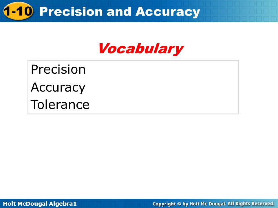 Vocabulary Precision Accuracy Tolerance