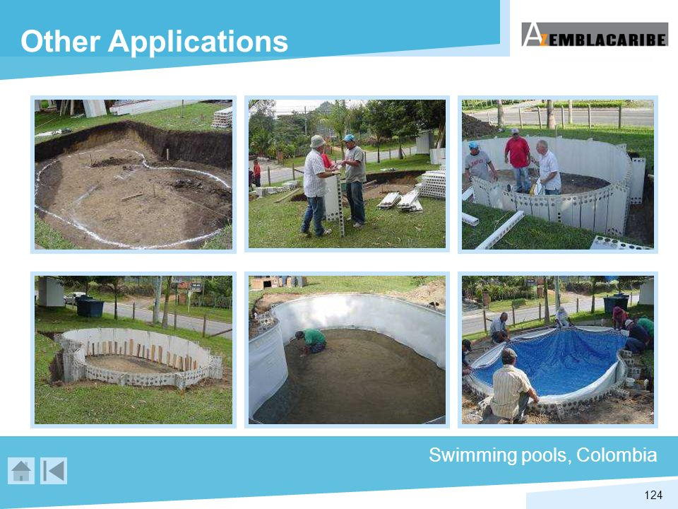 Other Applications Swimming pools, Colombia