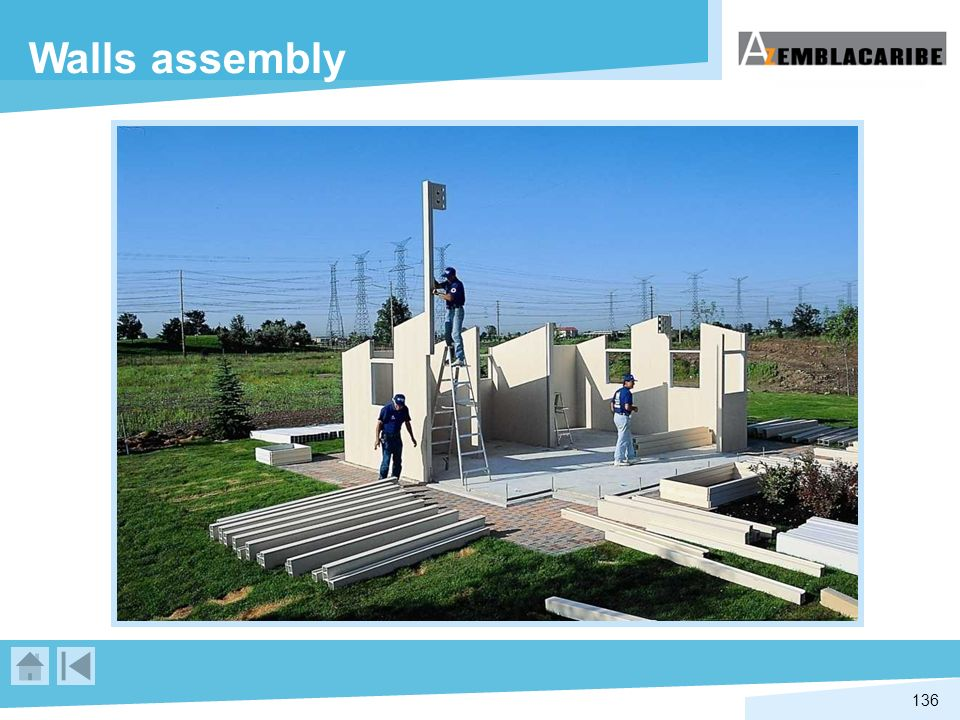 Walls assembly