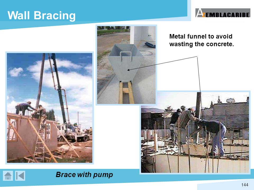 Wall Bracing Brace with pump