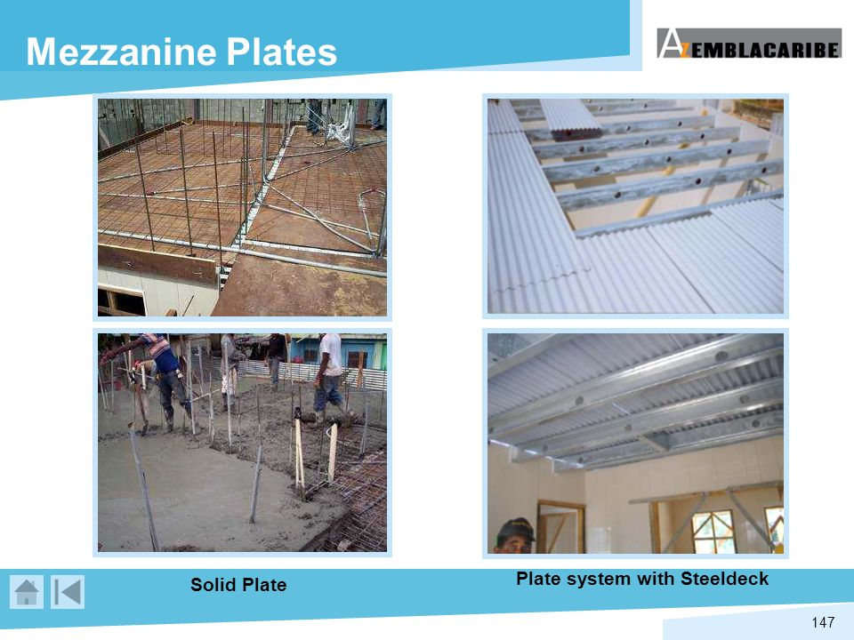 Plate system with Steeldeck